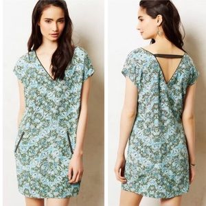 Anthro Maeve Serpentes Snake Print Tunic Dress